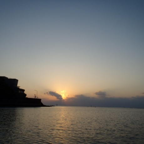 年始の夕日