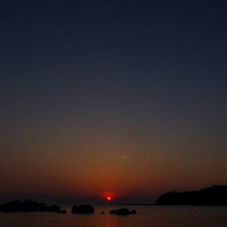 夕日の最後