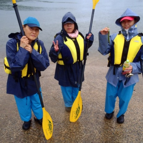 雨のカヤック女子会
