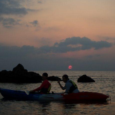夕陽の最後