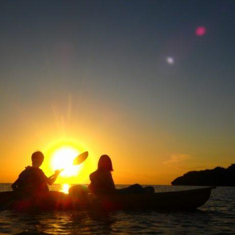 夕陽カヤック
