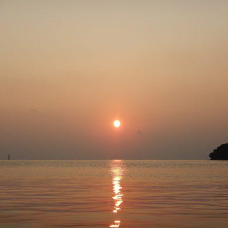真ん丸太陽