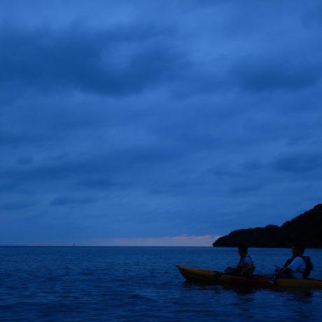 海でカヤック