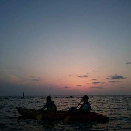 日の入り後