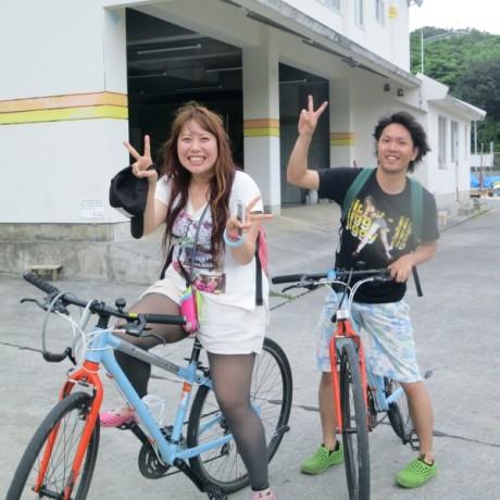 自転車旅でのツーショット