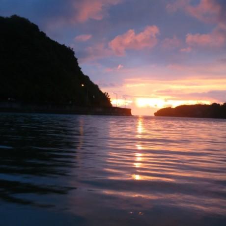 奇跡の夕日