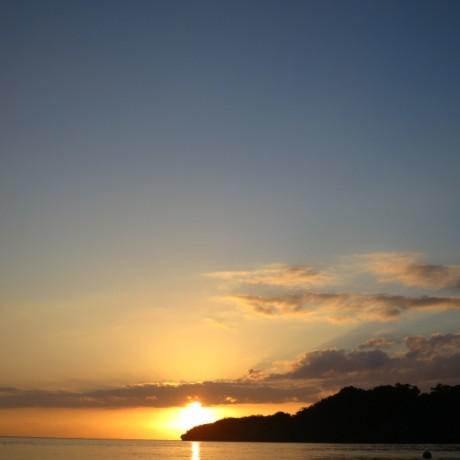 輝く夕日の時間